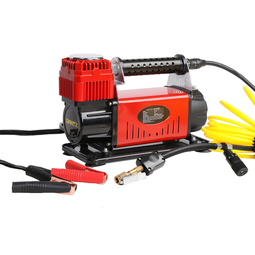 🥇 New Giantz 12V Portable Air Compressor – Red ⭐+ Fast Free Shipping 🚀
