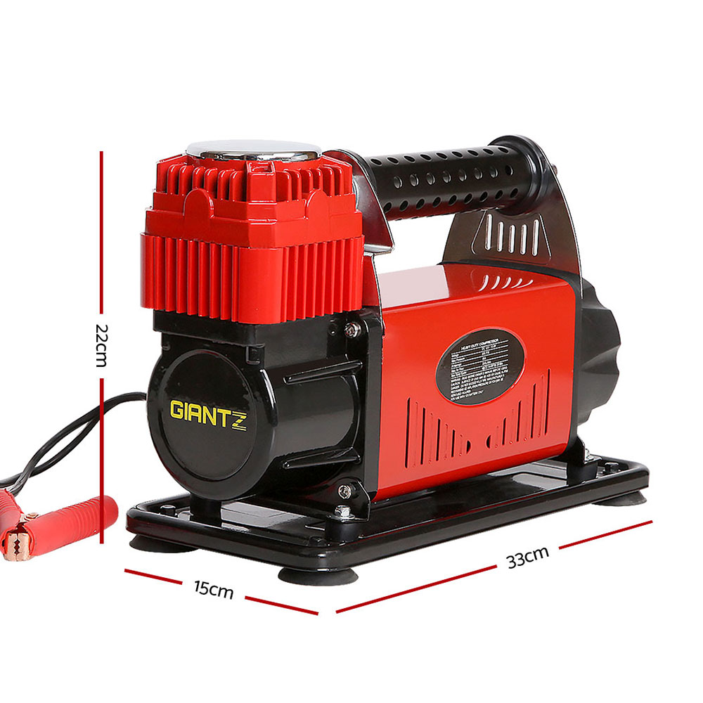 Brand New Giantz 12V Portable Air Compressor – Red Fast Free Shipping