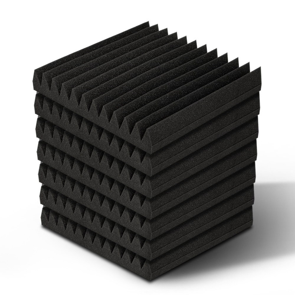 🥇 New 40pcs Studio Acoustic Foam Sound Absorption Proofing Panels 30x30cm Black Wedge ⭐+ Fast Free Shipping 🚀