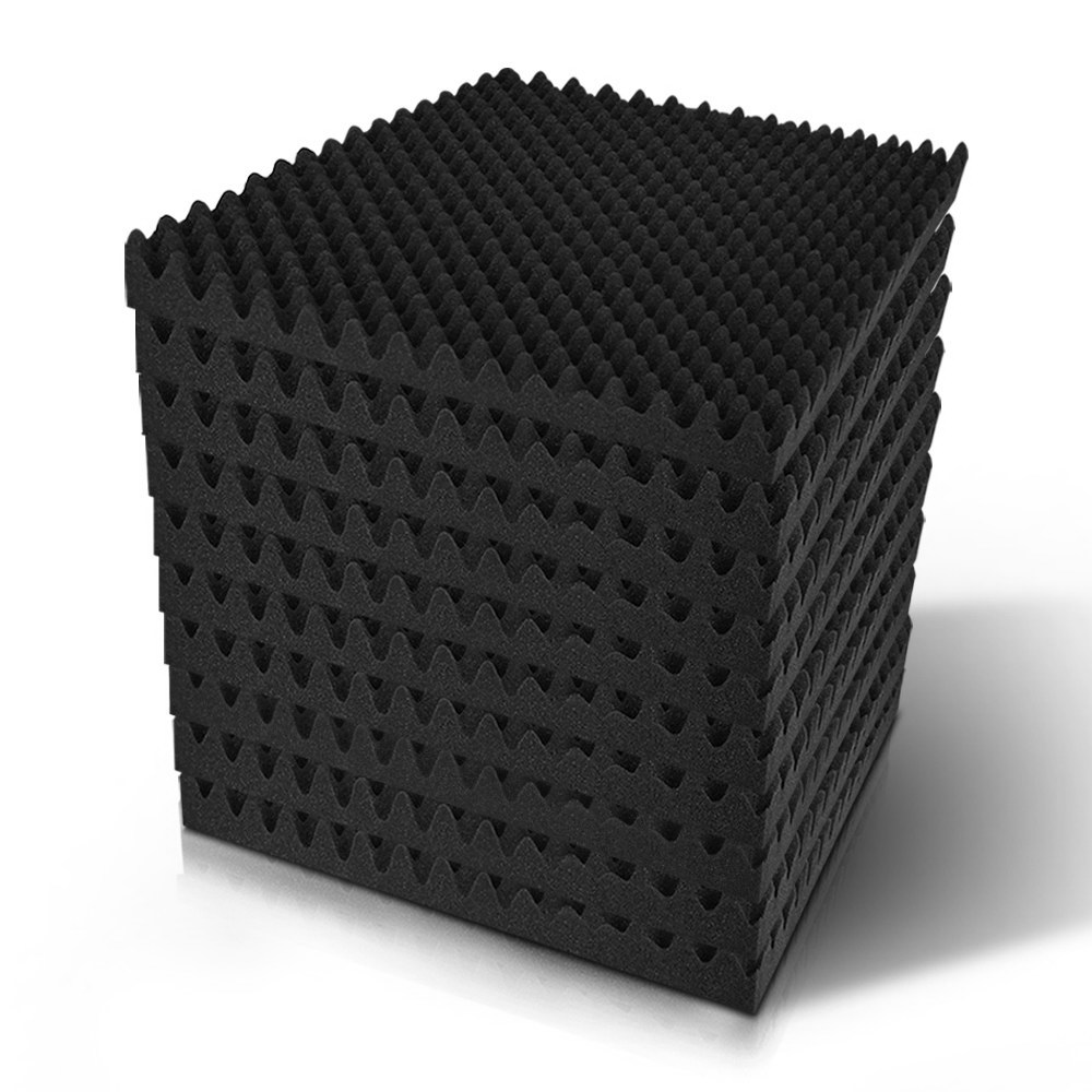 🥇 New 60pcs Studio Acoustic Foam Sound Absorption Proofing Panels 50x50cm Black Eggshell ⭐+ Fast Free Shipping 🚀