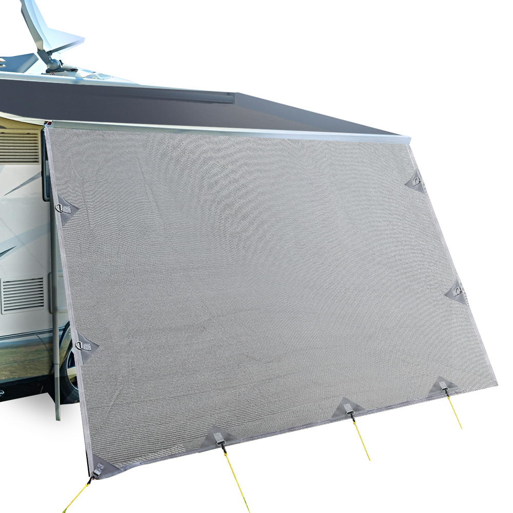 4.0M Caravan Privacy Screens 1.95m Roll Out Awning End Wall Side Sun Shade