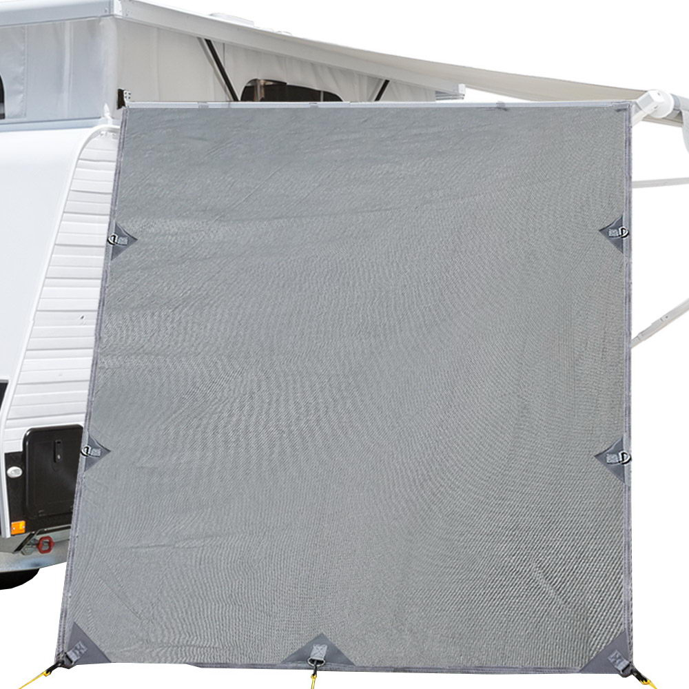 Pop Top Caravan Privacy Screen 2.10 x 1.8M Sun Shade End Wall Roll Out Awning