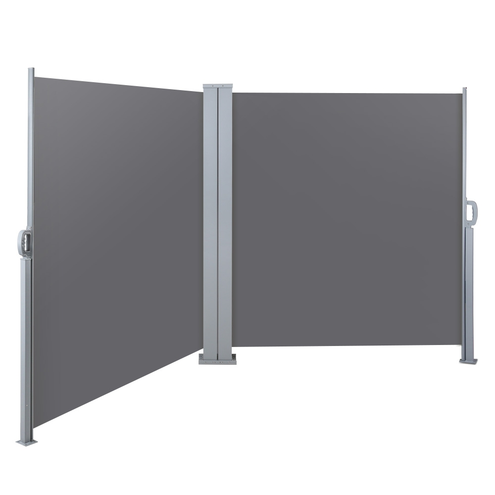 Instahut 2X6M Retractable Side Awning Garden Patio Shade Screen Panel Grey