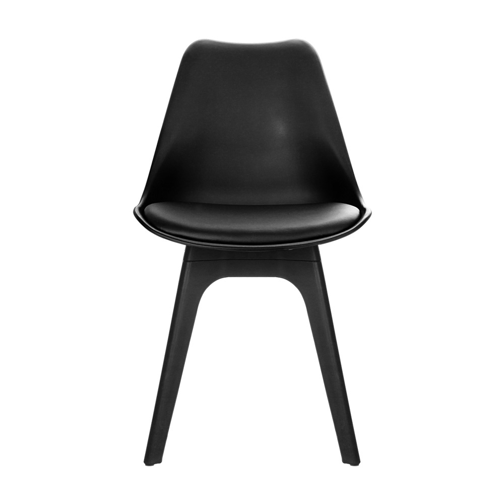 Set of 4 Replica Eames DSW PU Leather Chair Black Dining  : BA BB DSW 55Y BKX4 02 from www.ebay.com.au size 1000 x 1000 jpeg 49kB