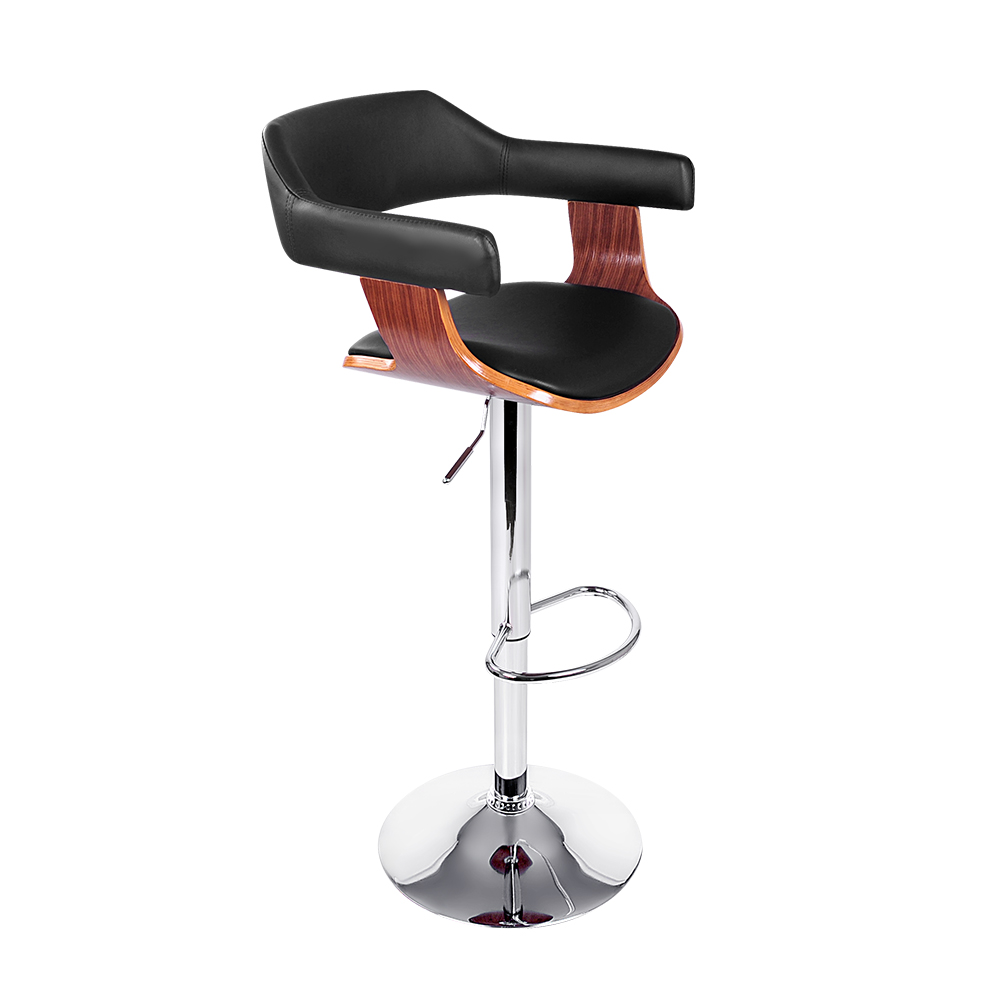 New Artiss Wooden Bar Stool – Black + Fast Free Shipping