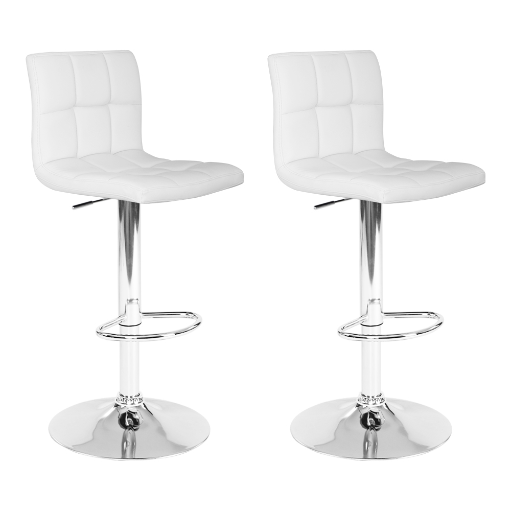 [Brand New] Artiss Set of 2 PU Leather Bar Stools – White Fast Free Shipping Australia Wide 2020