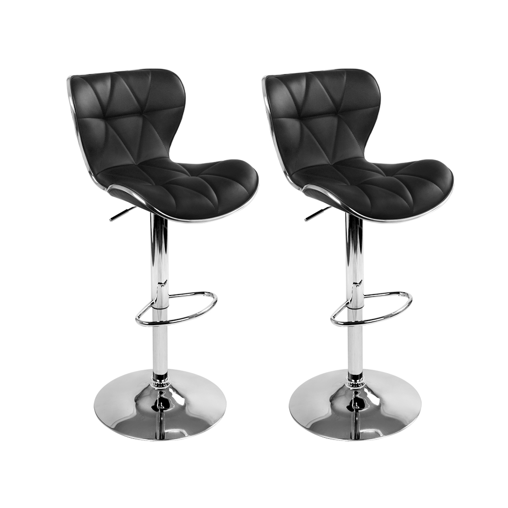 🥇 New Artiss Set of 2 PU Leather Bar Stools – Black ⭐+ Fast Free Shipping 🚀