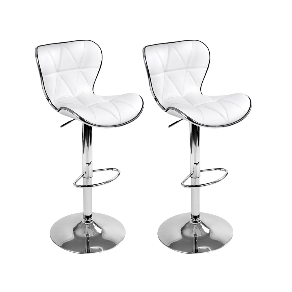 🥇 New Artiss Set of 2 PU Leather Bar Stools – White ⭐+ Fast Free Shipping 🚀