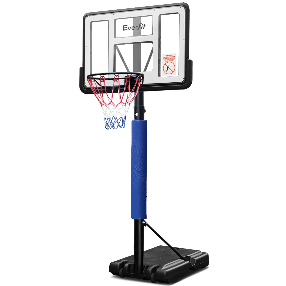 Everfit 3.05M Basketball Hoop Stand System Ring Portable Net Height Adjustable Blue