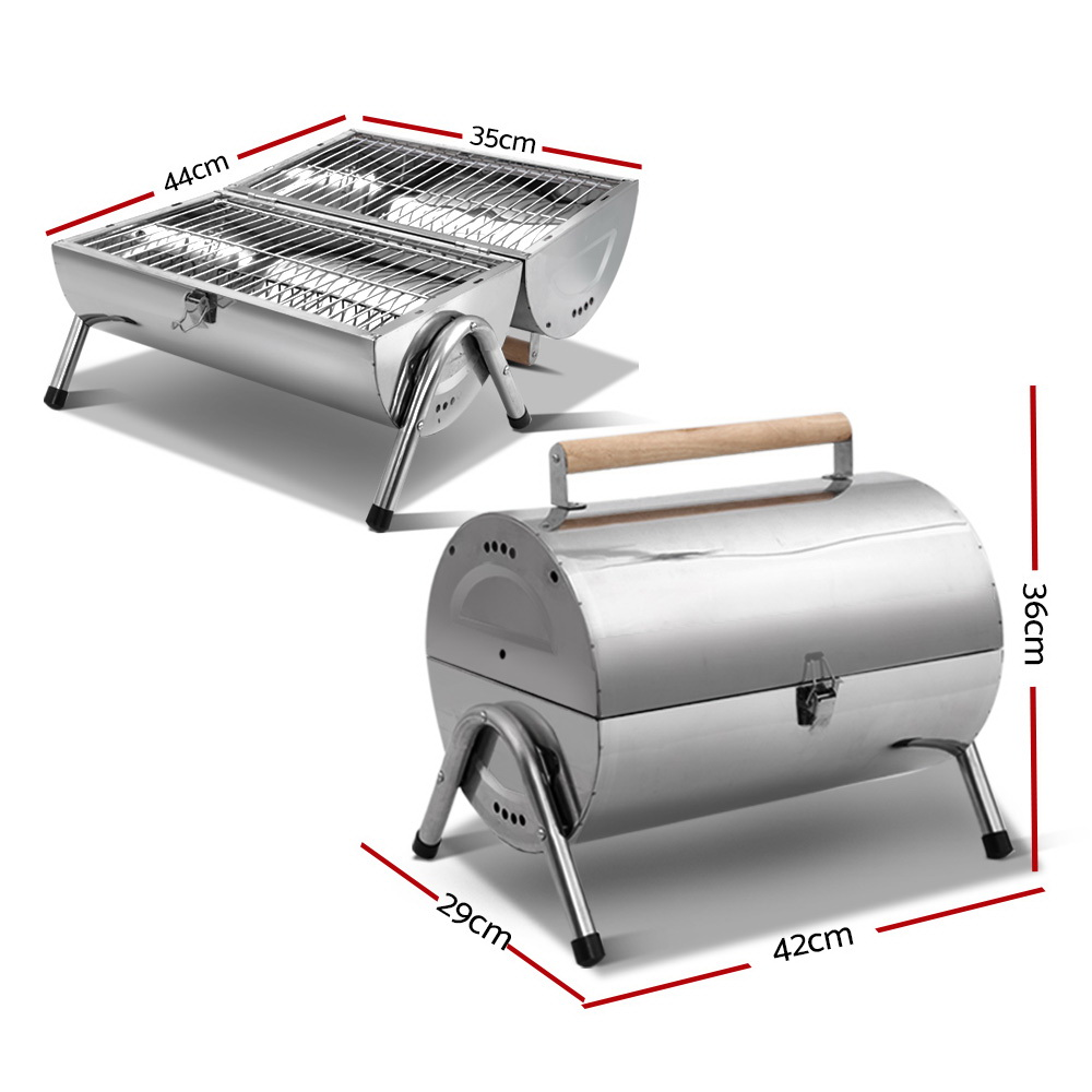 Brand New Grillz Portable BBQ Drill Outdoor Camping Charcoal Barbeque Smoker Foldable Fast Free Shipping