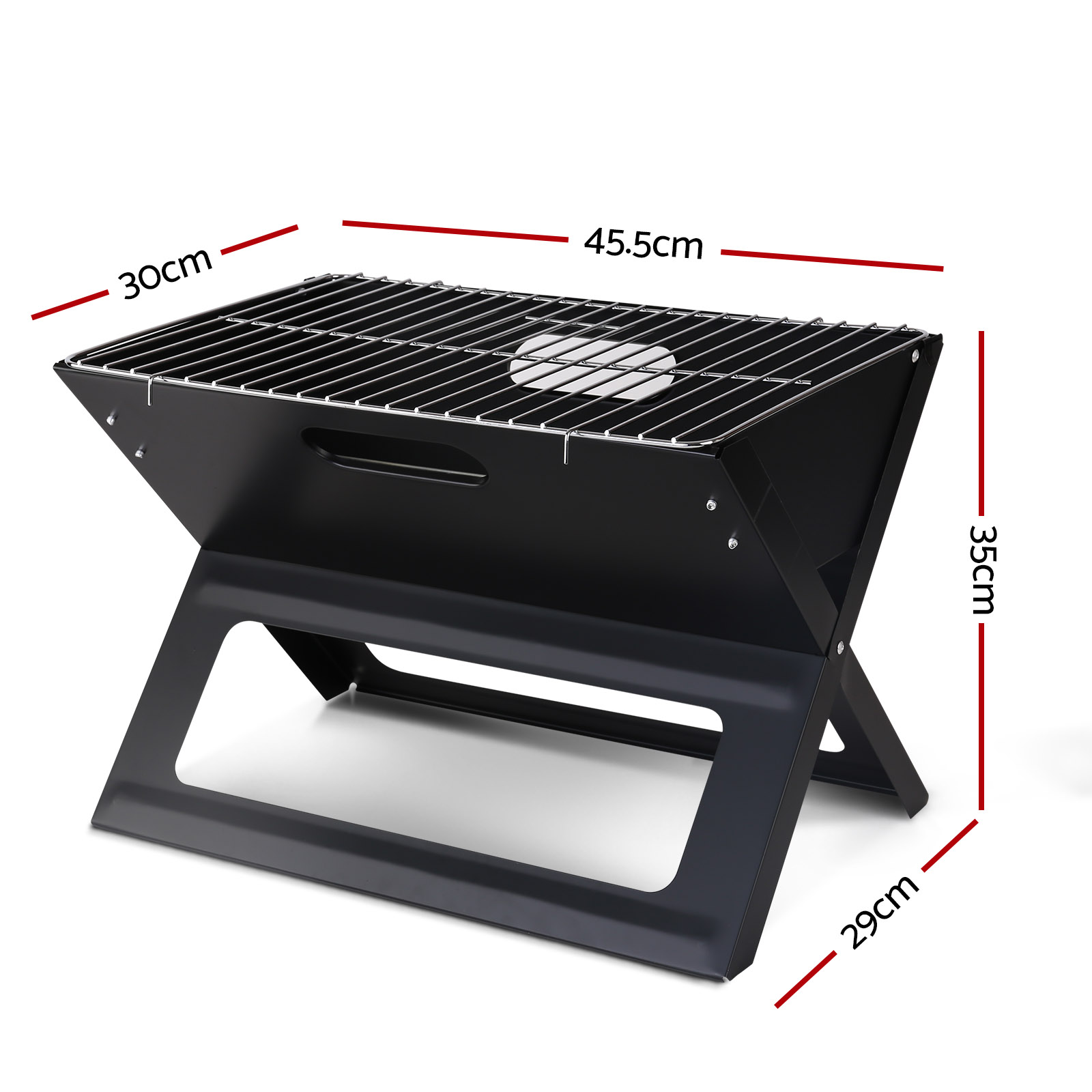 Brand New Grillz Notebook Portable Charcoal BBQ Grill Fast Free Shipping