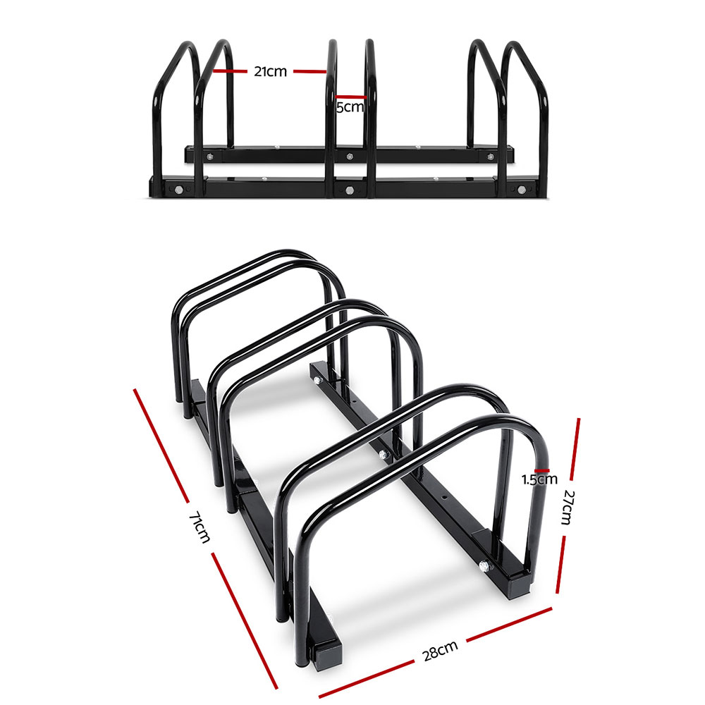 🥇 New Portable Bike 3 Parking Rack Bicycle Instant Storage Stand – Black ⭐+ Fast Free Shipping 🚀