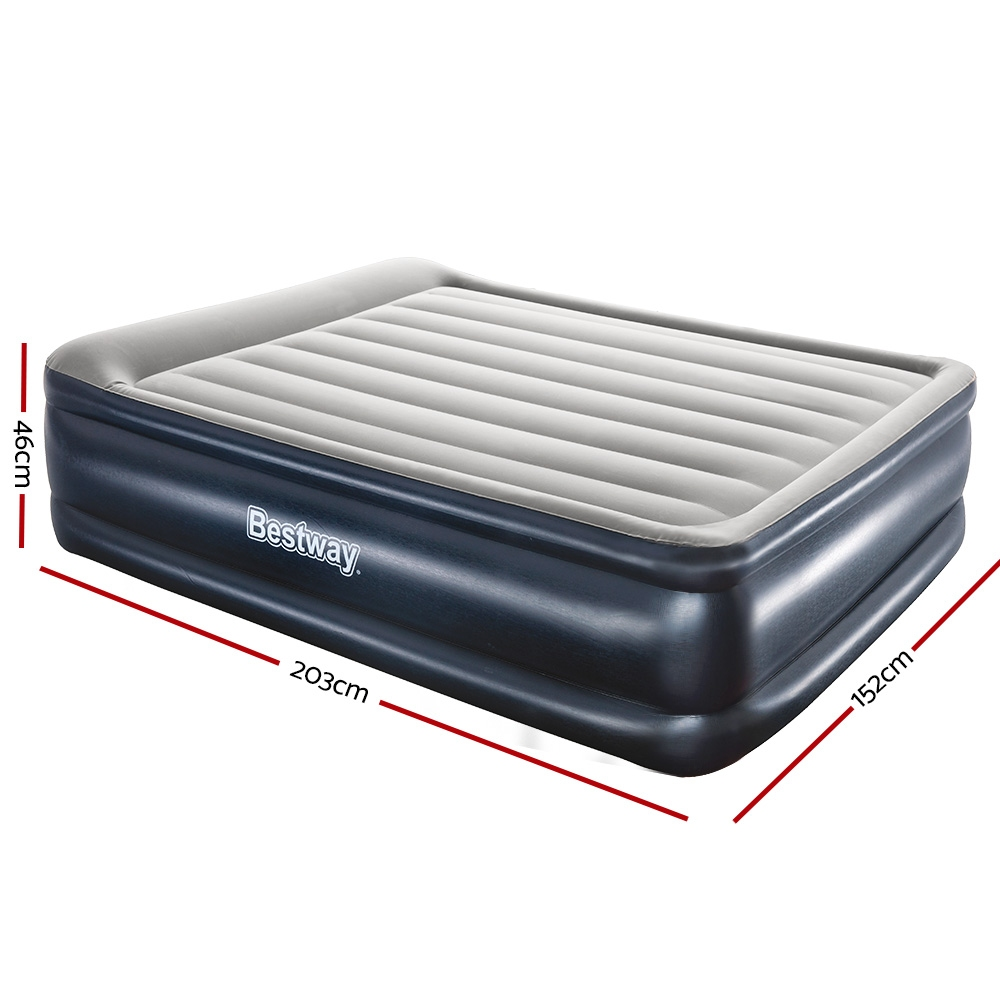 🥇 New Bestway Queen Air Bed Inflatable Mattress Sleeping Mat Battery Built-in Pump ⭐+ Fast Free Shipping 🚀