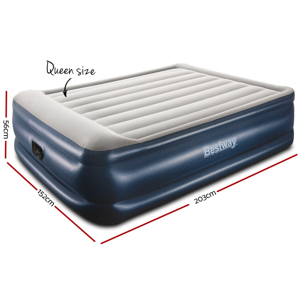 🥇 New Bestway Air Bed Inflatable Mattress Queen ⭐+ Fast Free Shipping 🚀