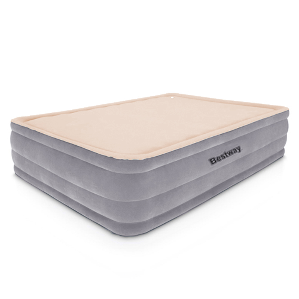 Brand New Bestway Queen Size Inflatable Air Mattress – Grey & Beige Fast Free Shipping