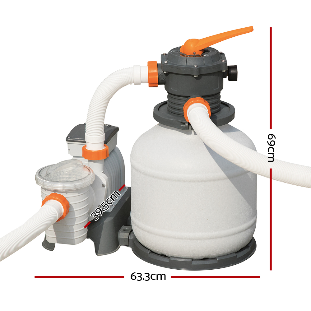 Brand New Bestway 2000GPH Flowclear Sand Filter Swimming Above Ground Pool Cleaning Pump Fast Free Shipping