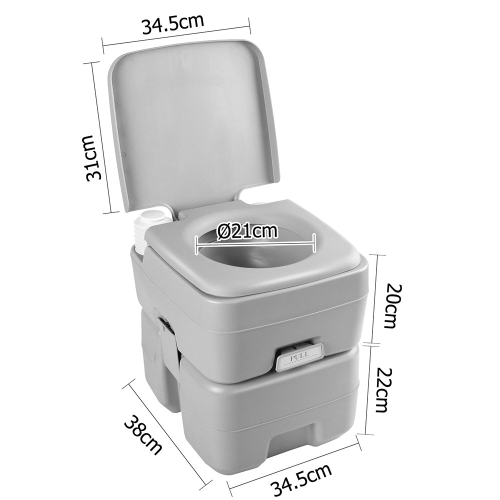 🥇 New Weisshorn 20L Portable Outdoor Camping Toilet – Grey ⭐+ Fast Free Shipping 🚀