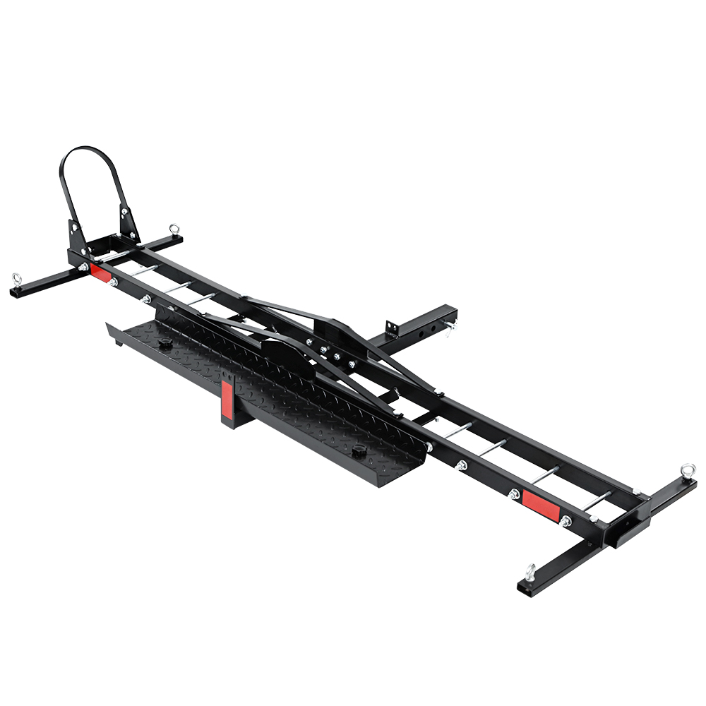 🥇 New Giantz Motorcycle Carrier 2 Arms Rack Ramp Motorbike Dirt Bike 2″Hitch Towbar ⭐+ Fast Free Shipping 🚀