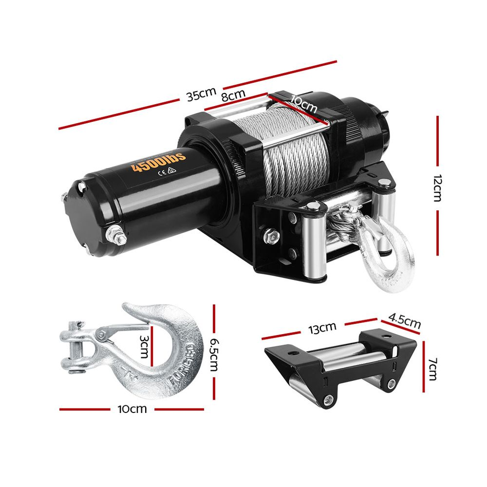 🥇 New Giantz 12V Wireless Electric Winch Remote with Steel Cable ⭐+ Fast Free Shipping 🚀