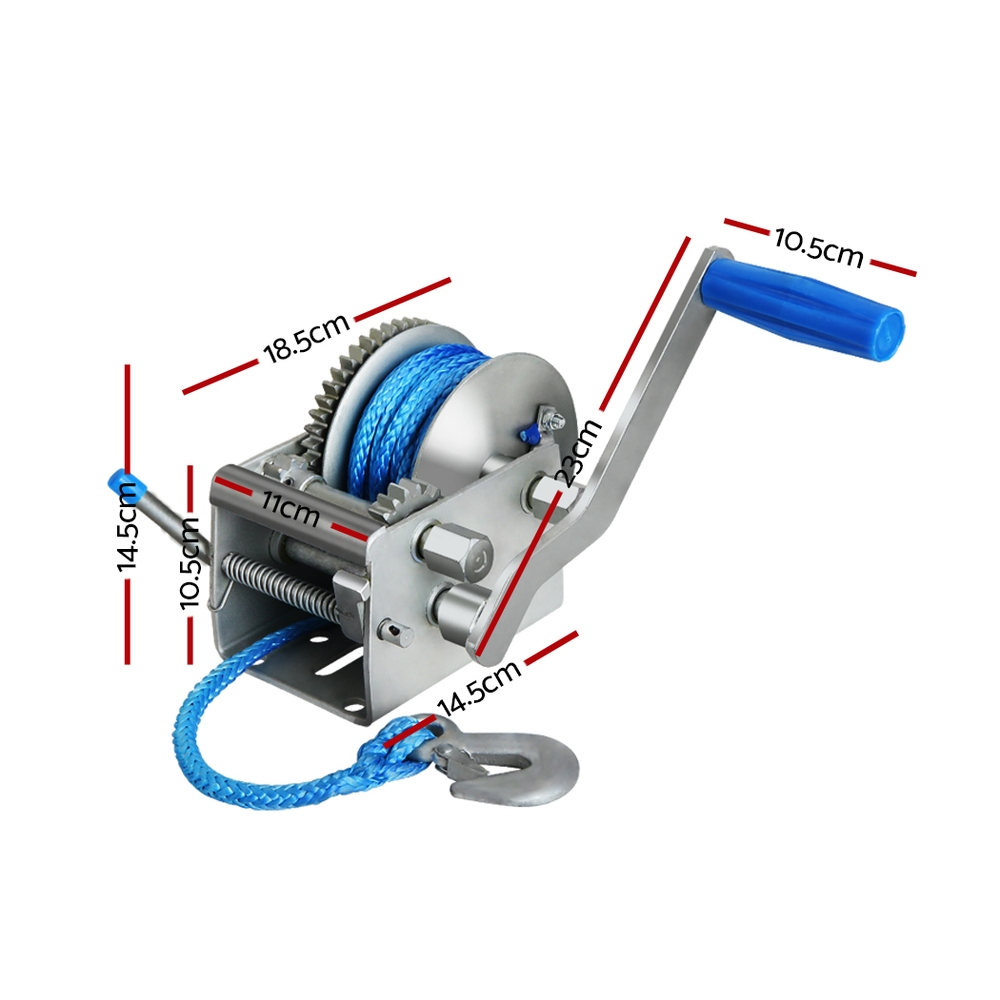 🥇 New Giantz 3 Speed Hand Winch Synthetic Rope ⭐+ Fast Free Shipping 🚀