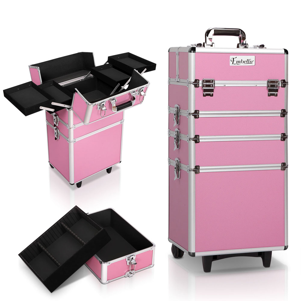 Brand New Embellir 7 in 1 Portable Cosmetic Beauty Makeup Trolley – Pink Fast Free Shipping