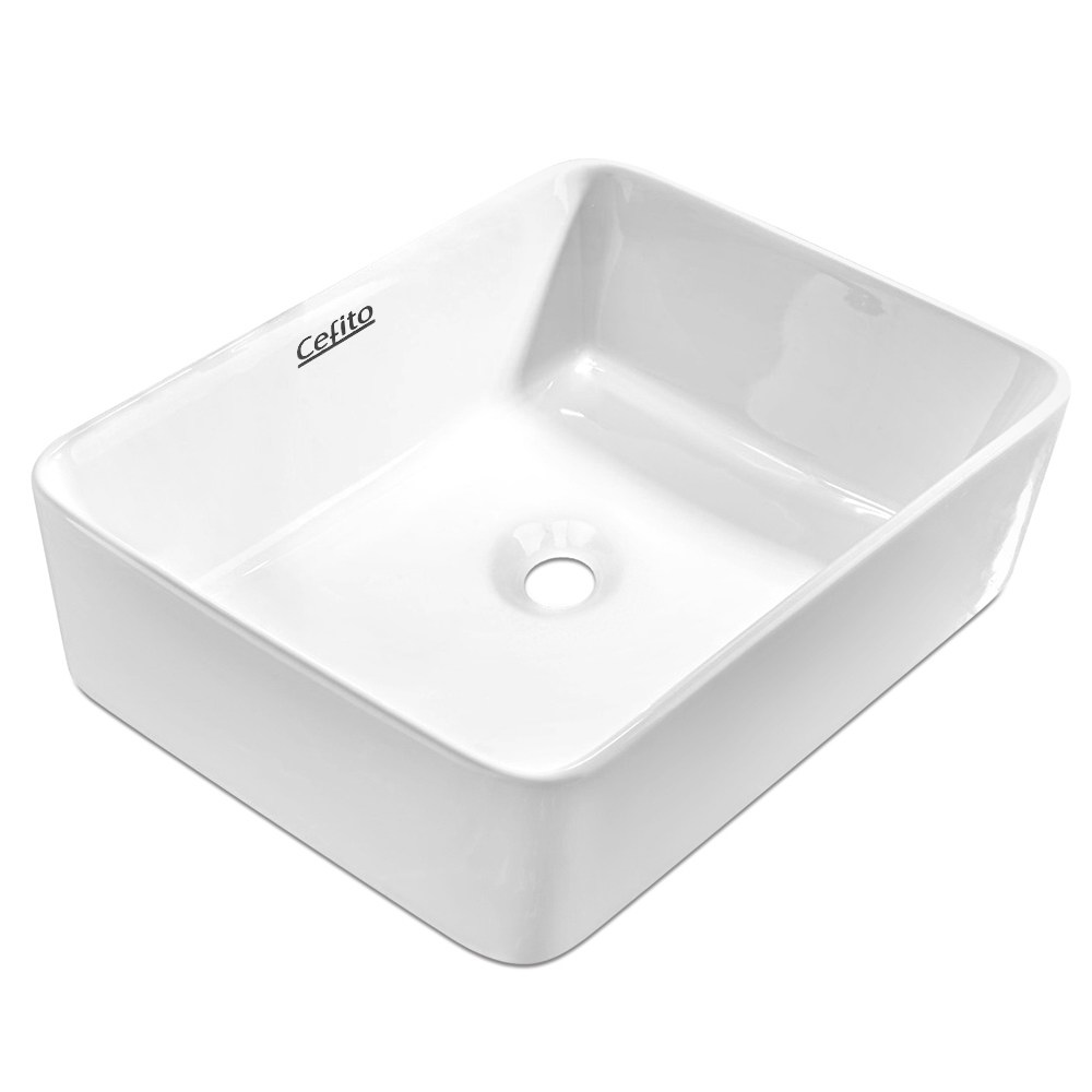 Brand New Cefito Ceramic Rectangle Sink Bowl – White Fast Free Shipping