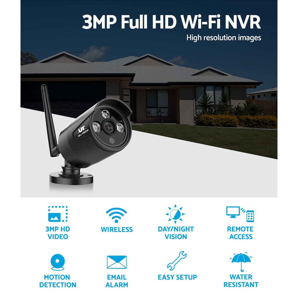 Brand New UL-TECH 1080P Wireless Security Camera System IP CCTV Home Fast Free Shipping