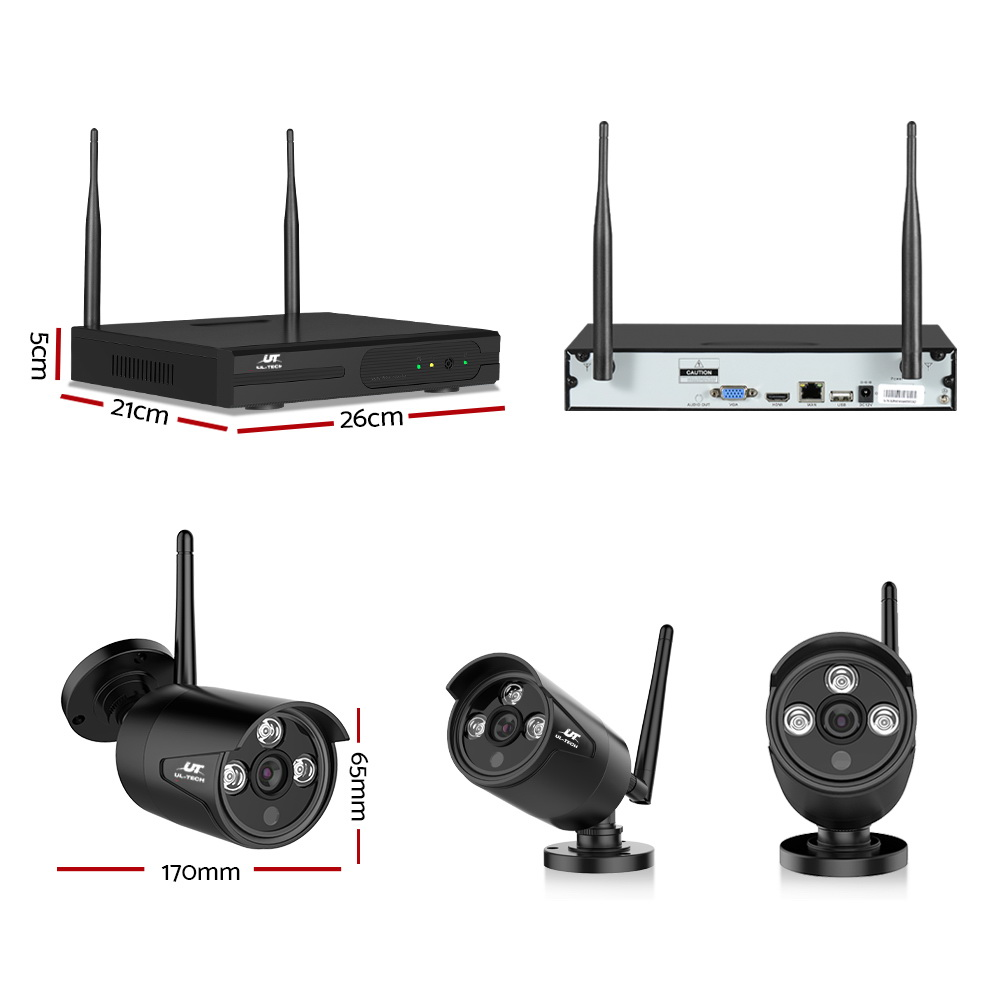 🥇 New UL-TECH 1080P 8CH Wireless Security Camera NVR Video ⭐+ Fast Free Shipping 🚀
