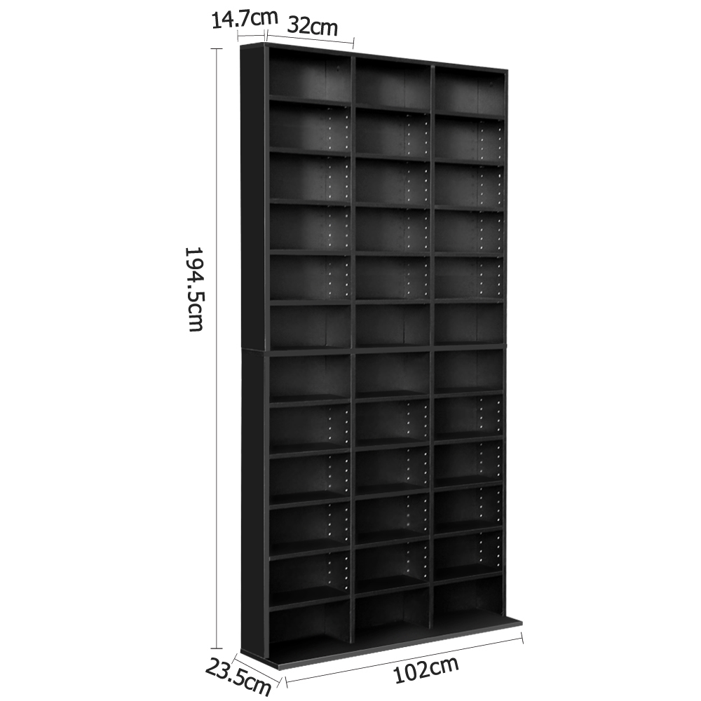 New Artiss Adjustable Book Storage Shelf Rack Unit – Black + Fast Free Shipping