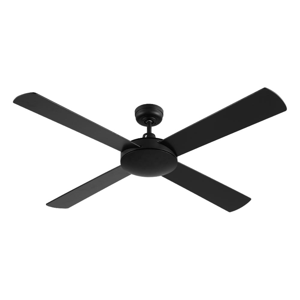 Brand New Devanti 52 inch 1300mm Ceiling Fan Wall Control 4 Wooden Blades Cooling Fans Black Fast Free Shipping