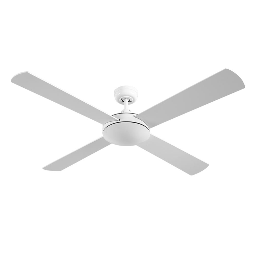 Brand New Devanti 52 inch 1300mm Ceiling Fan Wall Control 4 Wooden Blades Cooling Fans White Fast Free Shipping