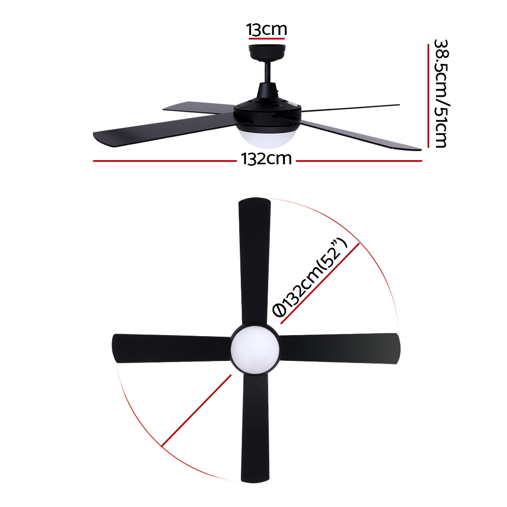 🥇 New Devanti 52″ Ceiling Fan – Black ⭐+ Fast Free Shipping 🚀