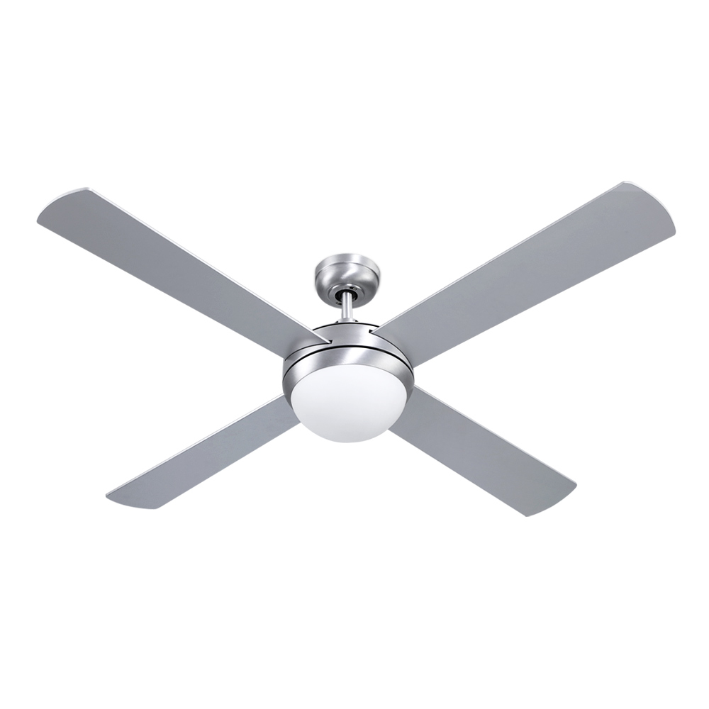 Brand New Devanti 52″ Ceiling Fan with Light Silver Fast Free Shipping