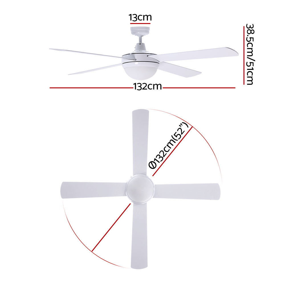 🥇 New Devanti 52″ Ceiling Fan – White ⭐+ Fast Free Shipping 🚀
