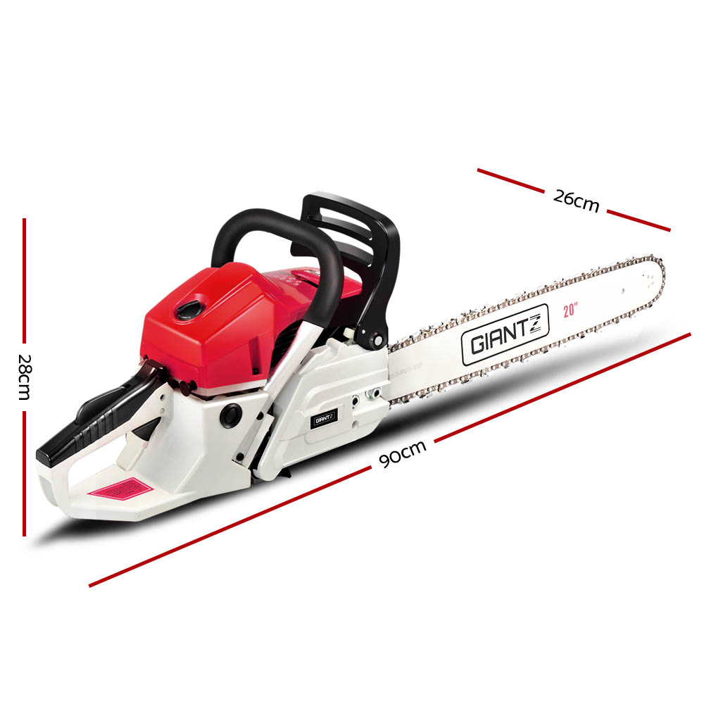 Chainsaw - Red & White Giantz 62Cc Commercial Petrol