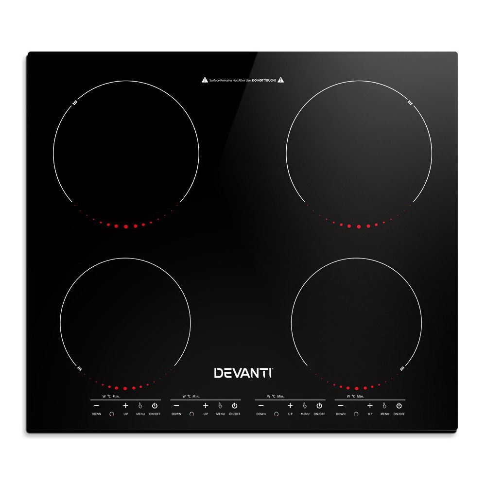 🥇 New Devanti Induction Cooktop 60cm Portable Electric Ceramic Cooker 4 Burner Stove ⭐+ Fast Free Shipping 🚀