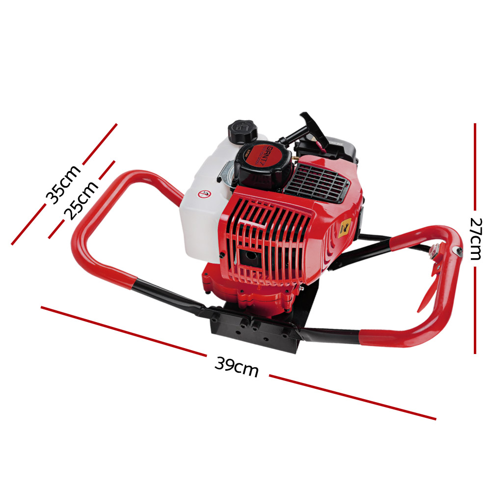 🥇 New Giantz Post Hole Digger Only 66CC Petrol Motor Drill Borer Fence Auger Bits ⭐+ Fast Free Shipping 🚀