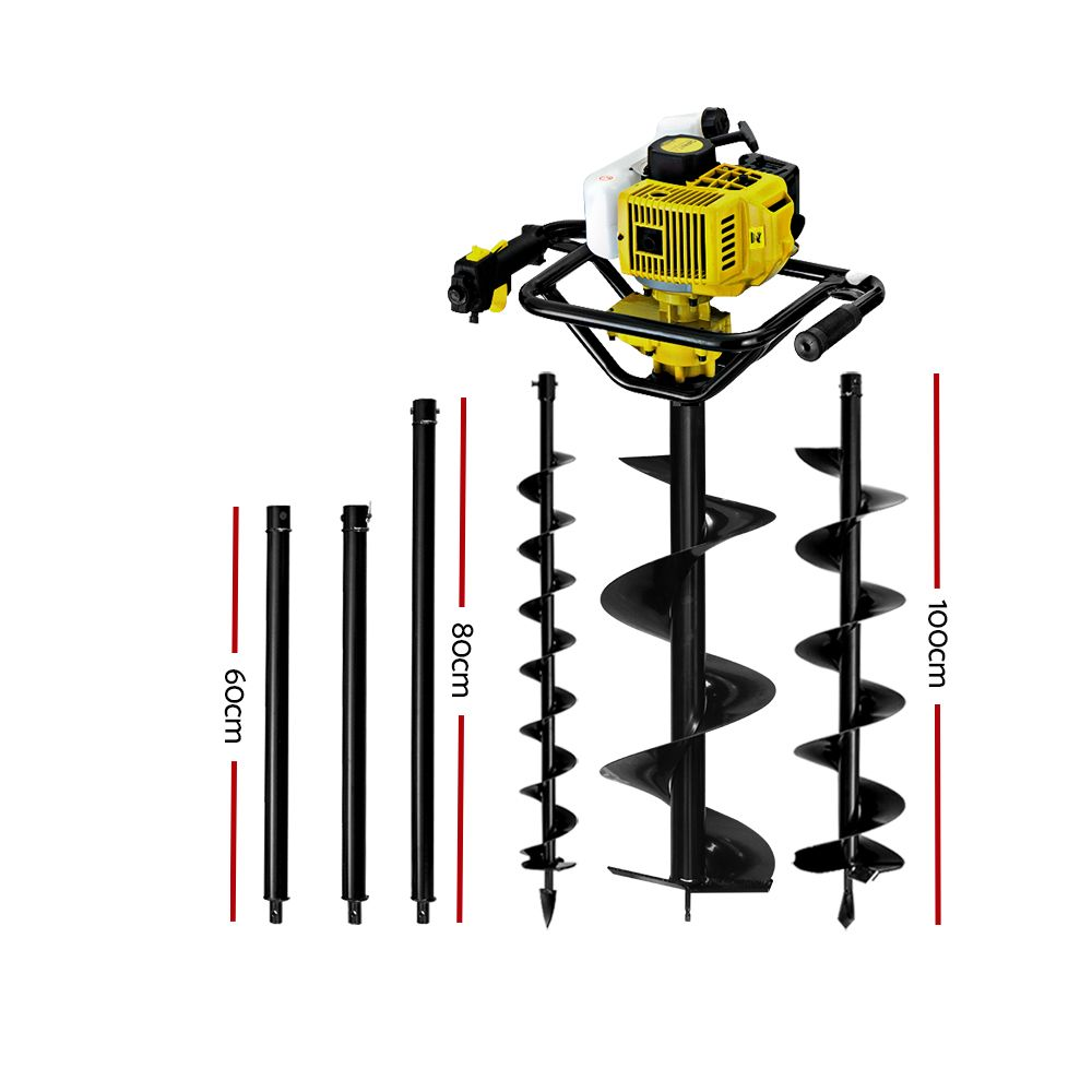Brand New Giantz 92CC Post Hole Digger Auger Petrol Drill Borer Fence Earth Power Fast Free Shipping