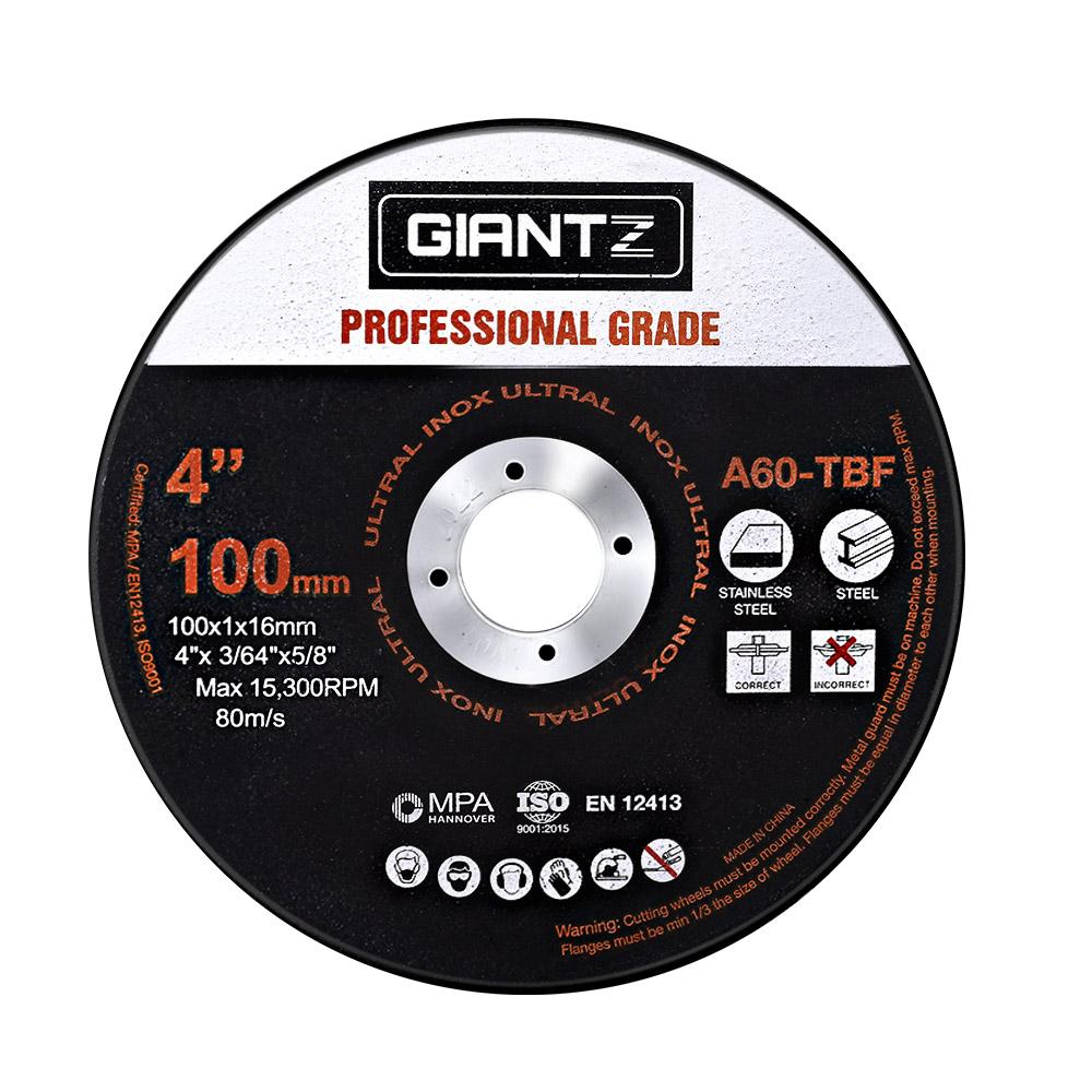 "Giantz 25 x 4"" Cutting Disc 100mm Metal Cut Off Wheel Angle Grinder Thin Steel"