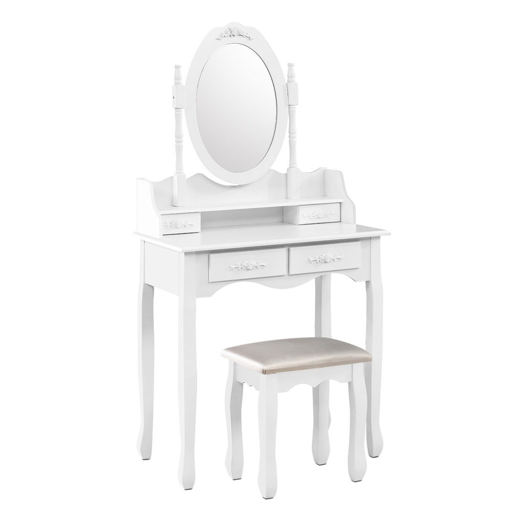 [Brand New] Artiss 4 Drawer Dressing Table with Mirror – White Fast Free Shipping Australia Wide 2020