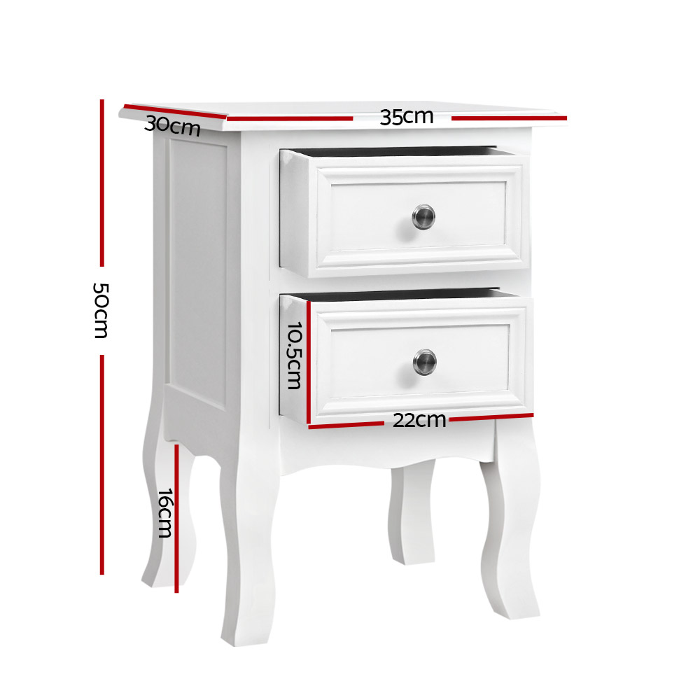 [Brand New] Artiss Bedside Tables Drawers Side Table French Storage Cabinet Nightstand Lamp Fast Free Shipping Australia Wide 2020