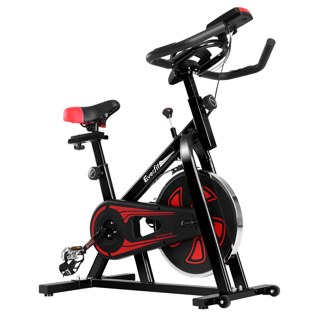 🥇 New Everfit Spin Exercise Bike Cycling Fitness Commercial Home Workout Gym Equipment Black ⭐+ Fast Free Shipping 🚀