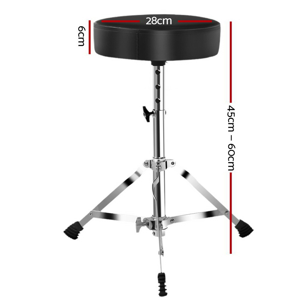 🥇 New Adjustable Drum Stool Throne Stools Seat Chairs Chair Electric Guitar Piano Kits ⭐+ Fast Free Shipping 🚀