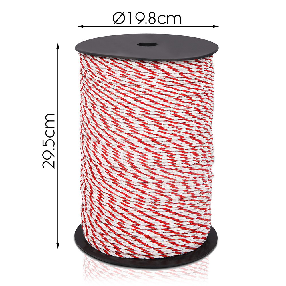 New Giantz 500m Stainless Steel Polywire Poly Tape Electric Fence + Fast Free Shipping