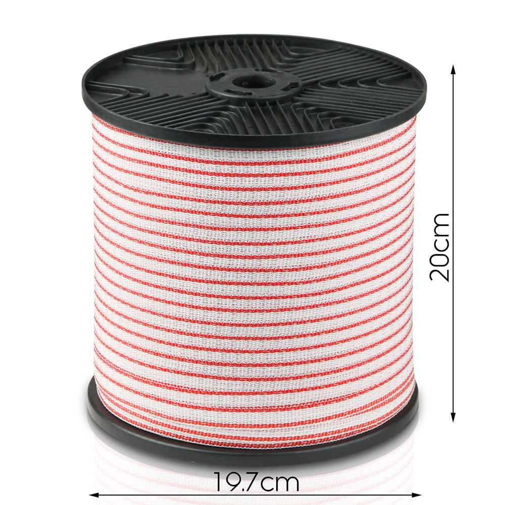 New Giantz 400m Stainless Steel Polywire Poly Tape Electric Fence + Fast Free Shipping