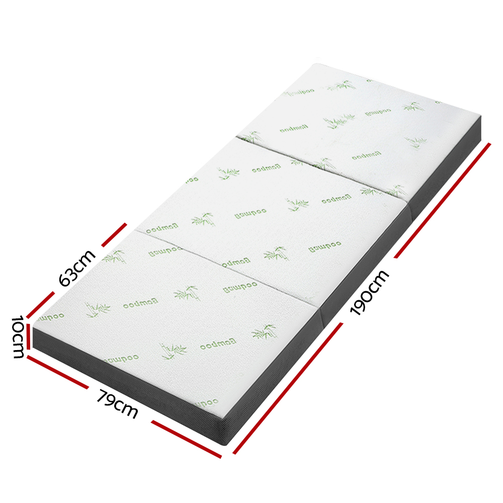 New Giselle Bedding Folding Foam Portable Mattress Bamboo Fabric + Fast Free Shipping
