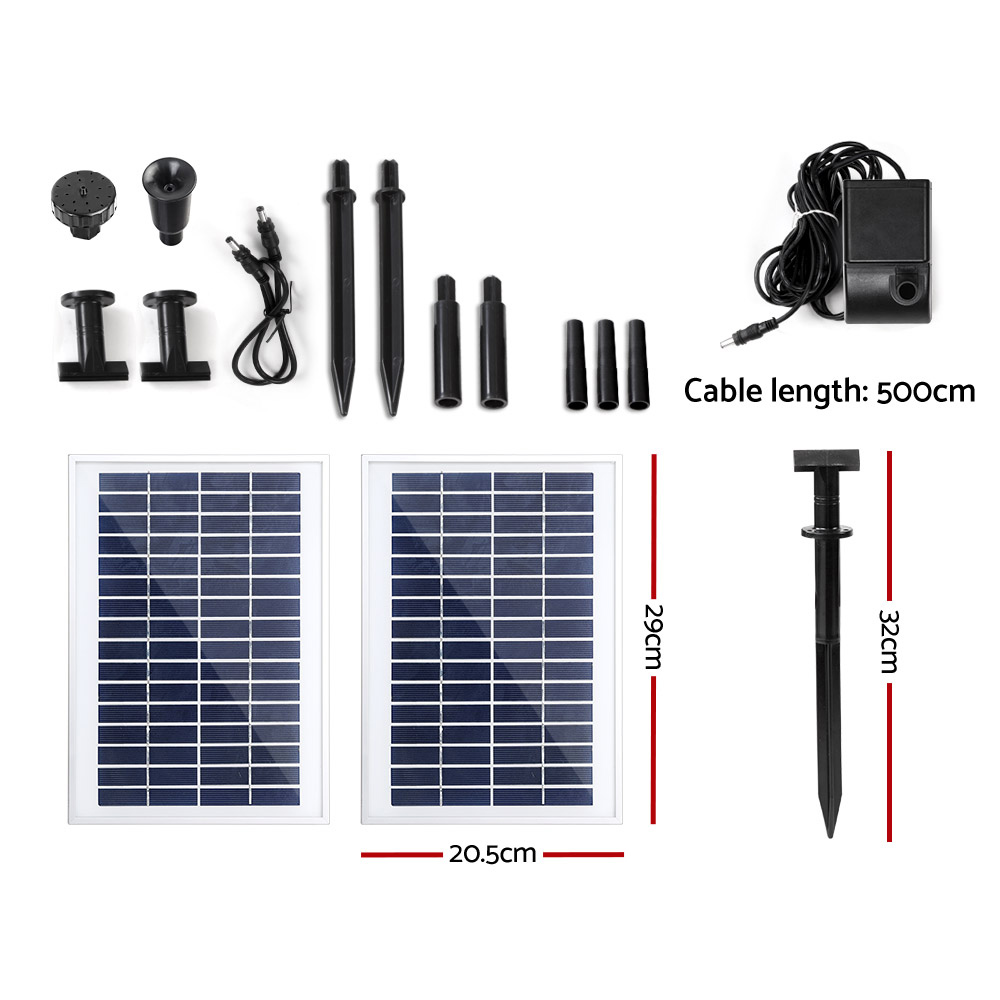 Brand New Gardeon 110W Solar Powered Water Pond Pump Outdoor Submersible Fountains Fast Free Shipping