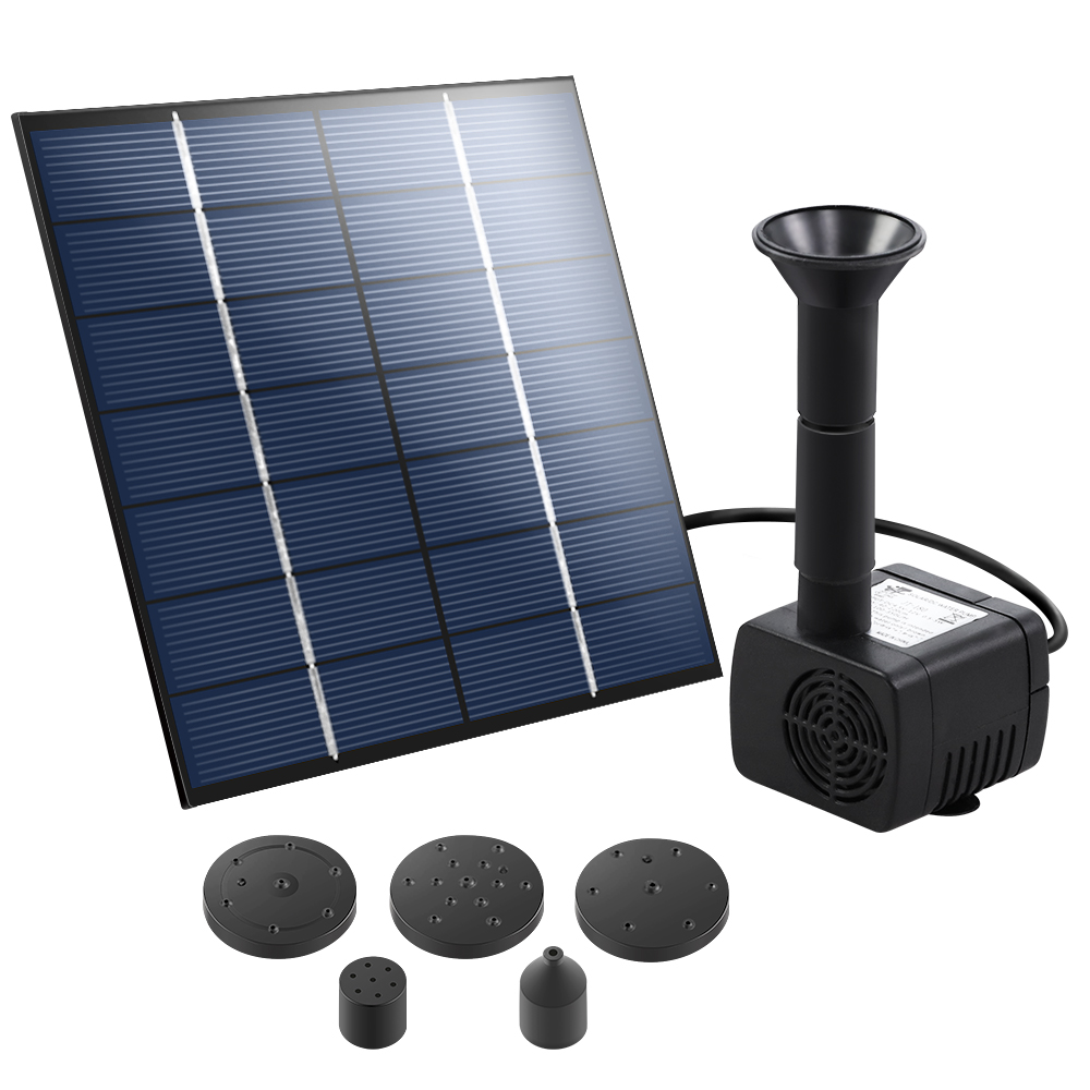 Solar Pond Pump Outdoor Water Fountains Submersible Garden Pool Kit 2.6 FT