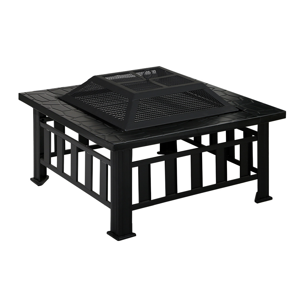Fire Pit BBQ Table Grill Outdoor Garden Wood Burning Fireplace Stove