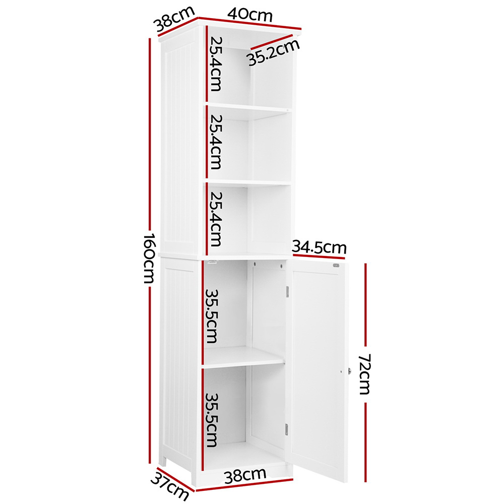 🥇 New Artiss Bathroom Tallboy Storage Cabinet – White ⭐+ Fast Free Shipping 🚀
